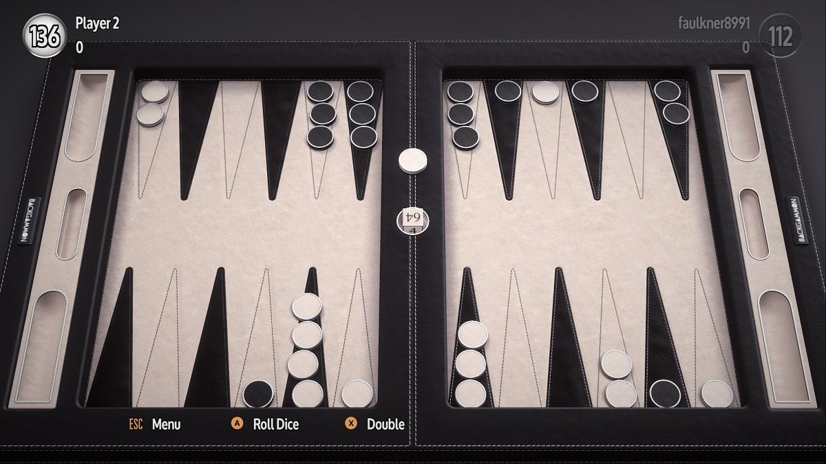Backgammon Blitz gallery full table black and white 1200